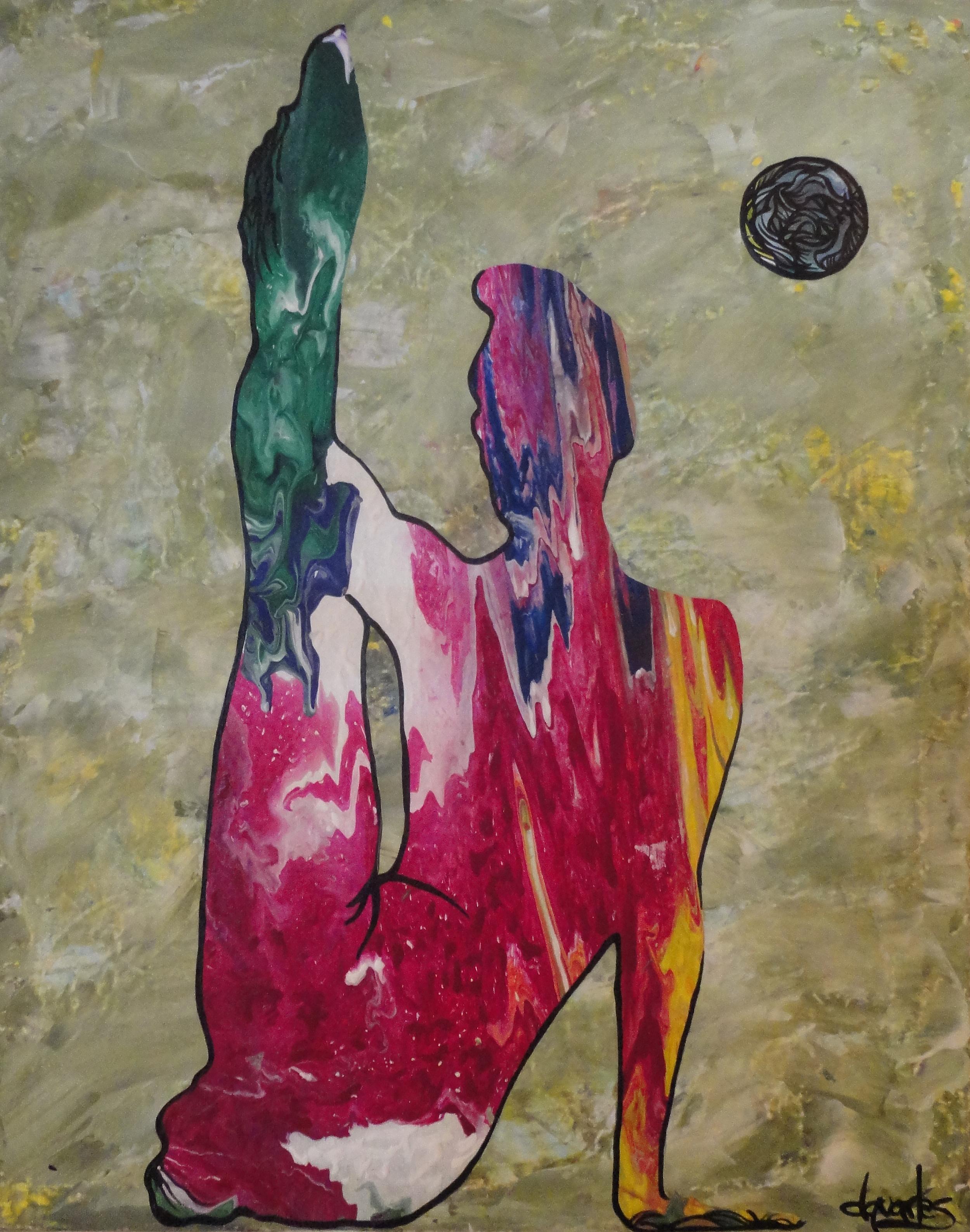 """""""Poser"""", acrylic on canvas. 16x20 $180"""